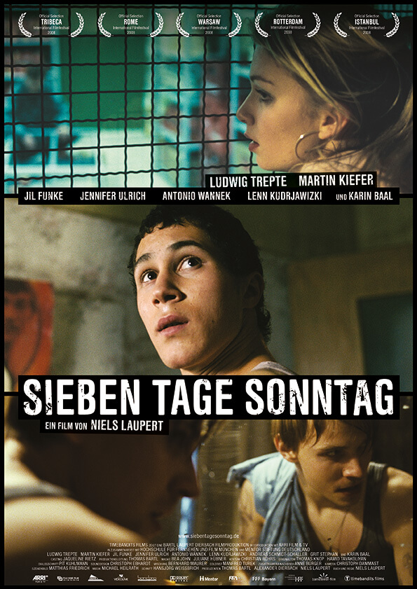 German Poster SEVEN DAYS SUNDAY